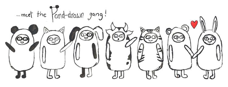 Meet The Gang at Pand-drawn.co.uk